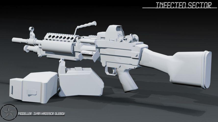 M249 SAW machine weapon gun military ur wallpaper