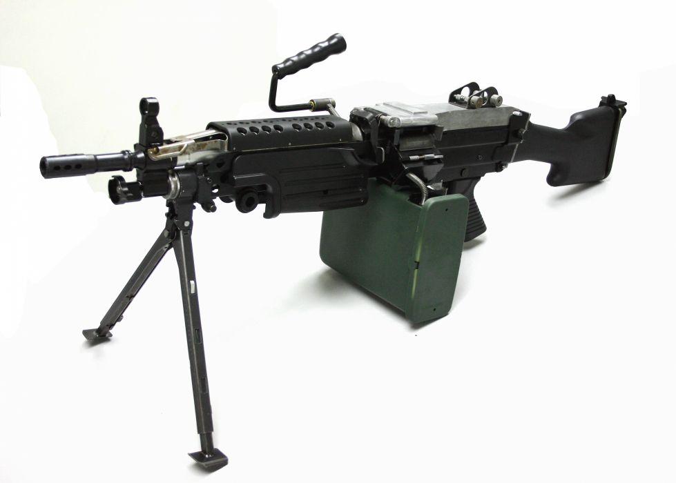 M249 SAW machine weapon gun military   f_JPG wallpaper