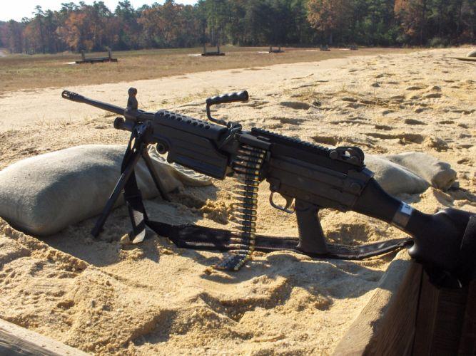 M249 SAW machine weapon gun military ammo g wallpaper
