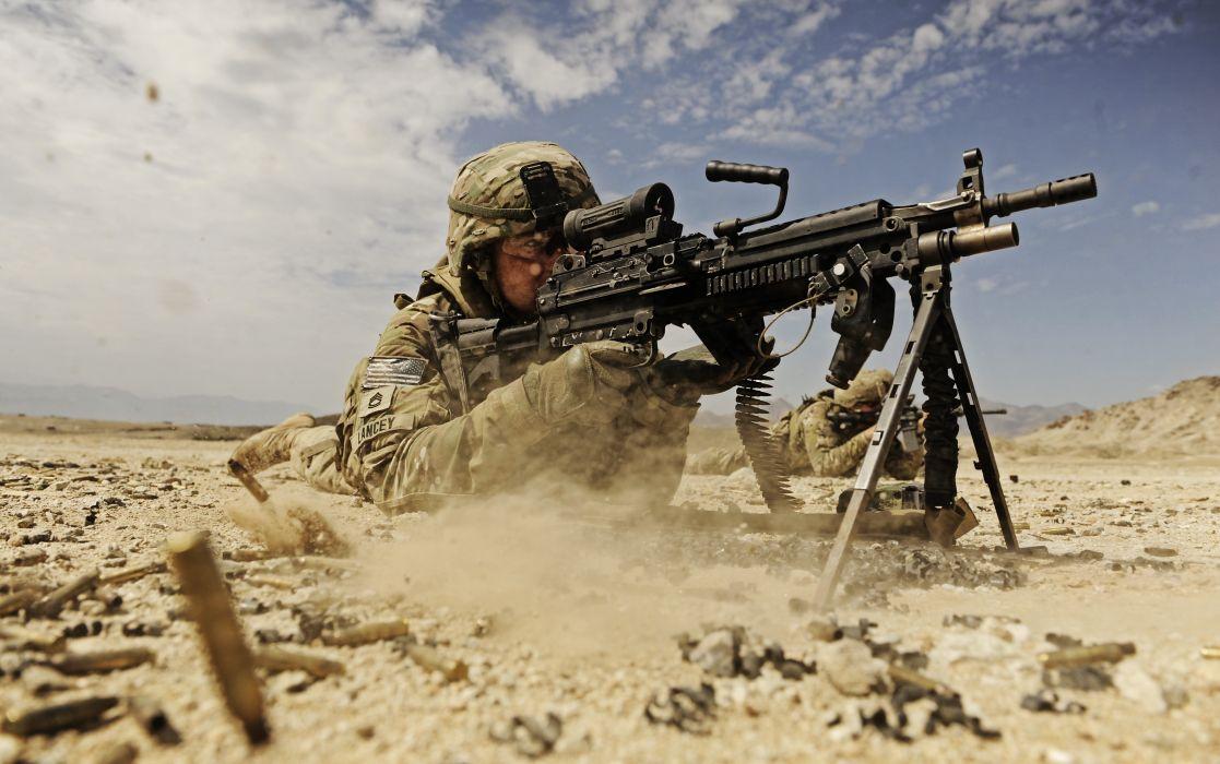 M249 SAW machine weapon gun military soldier ammo  r wallpaper