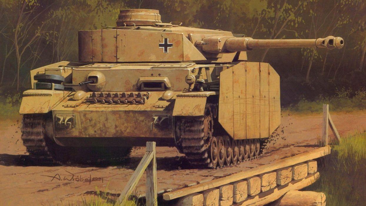 PANZER TANK weapon military tanks retro art        f wallpaper
