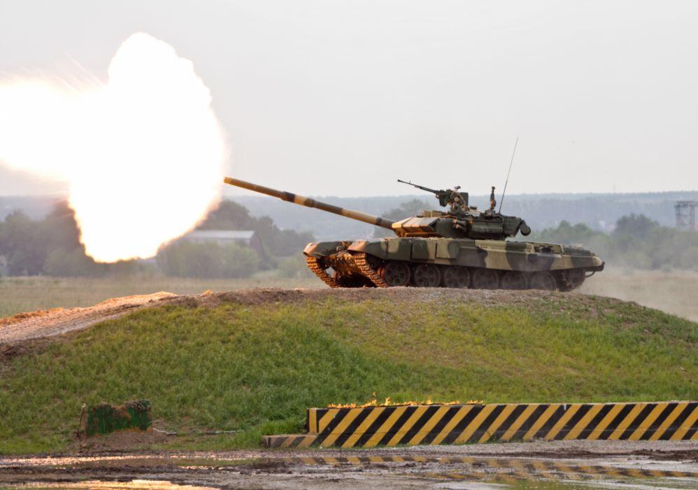 RUSSIAN T-90 TANK weapon military tanks fire       j wallpaper