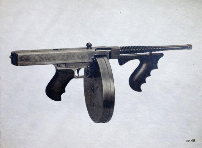 THOMPSON SUBMACHINE GUN weapon military rifle machine e wallpaper