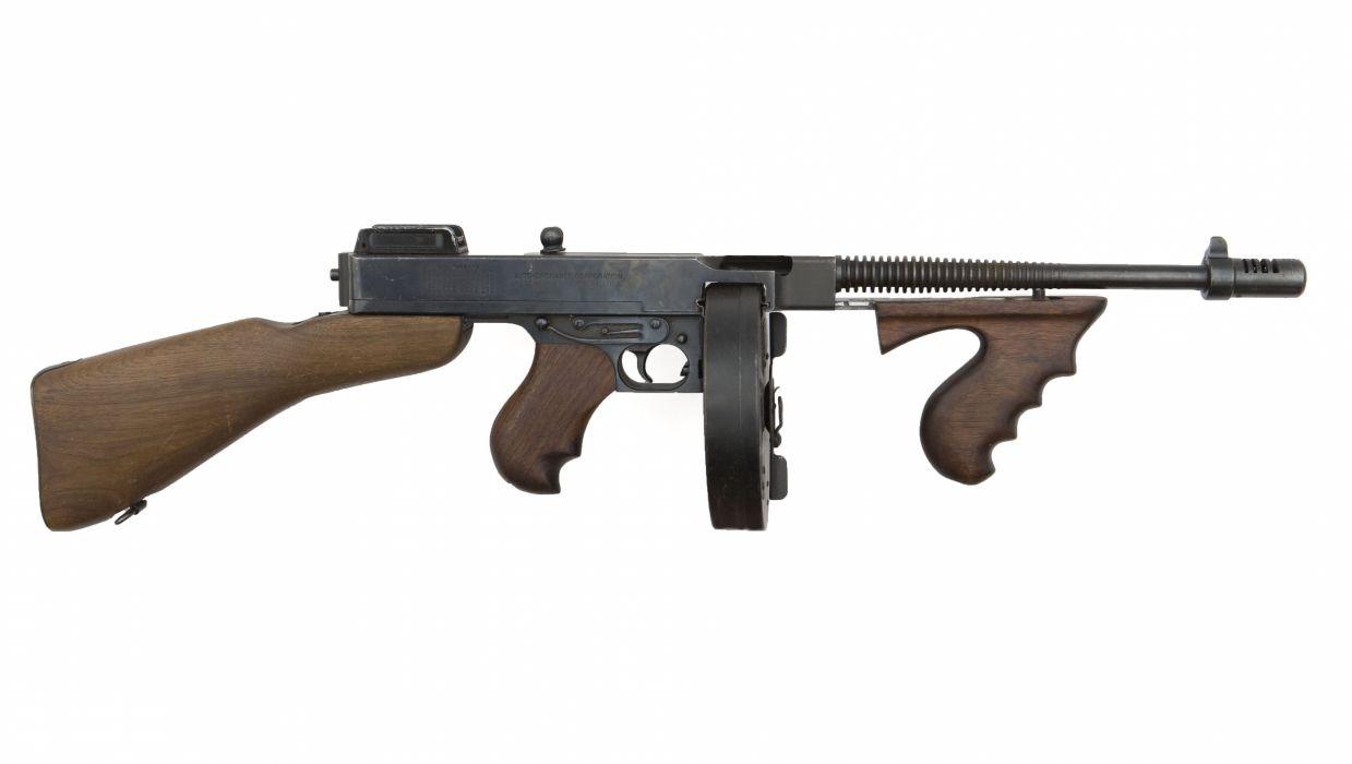 THOMPSON SUBMACHINE GUN weapon military rifle machine   r wallpaper