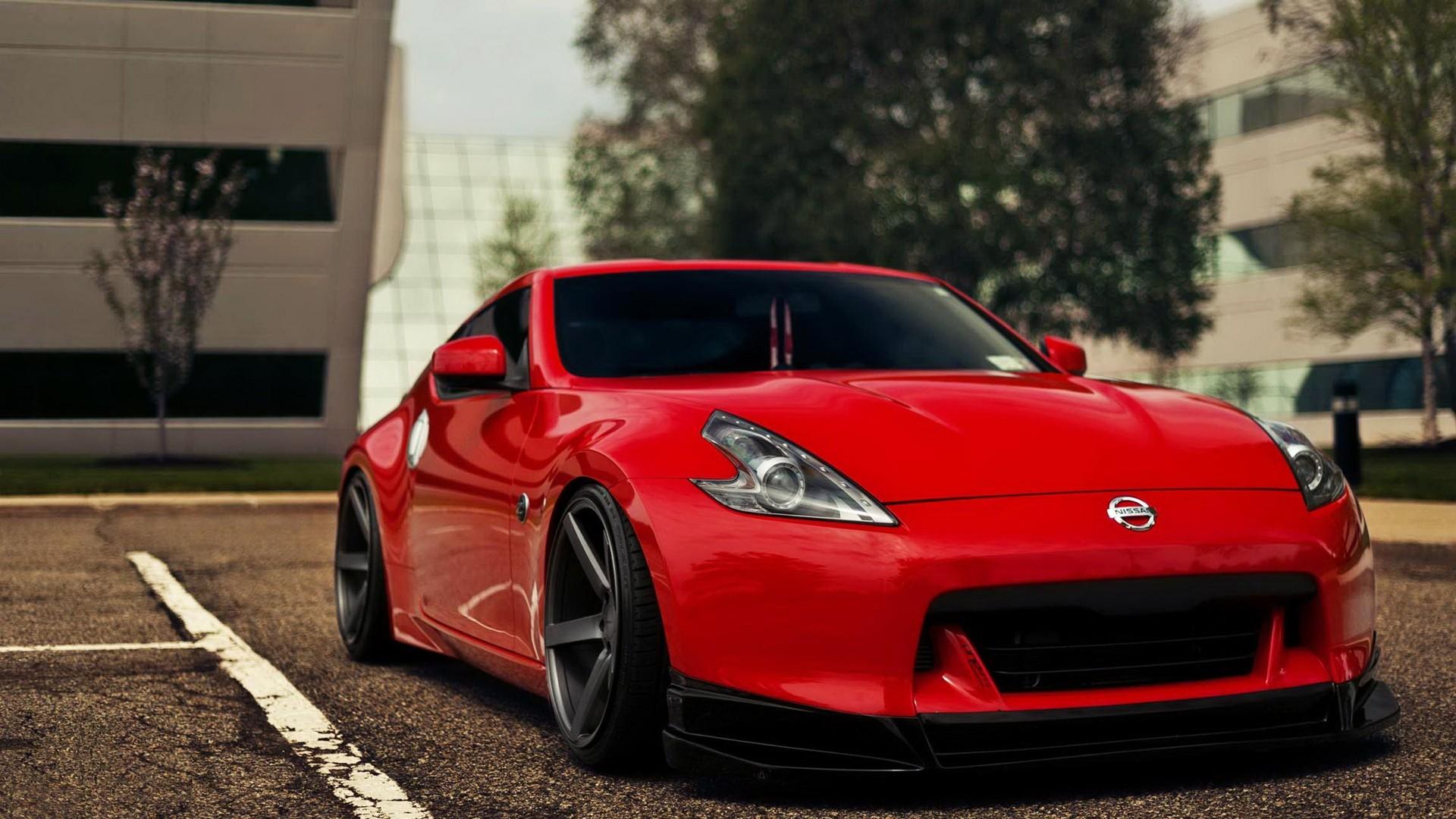 red cars nissan parking lot nissan fairlady z34 370z