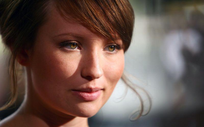 women Emily Browning macro faces wallpaper
