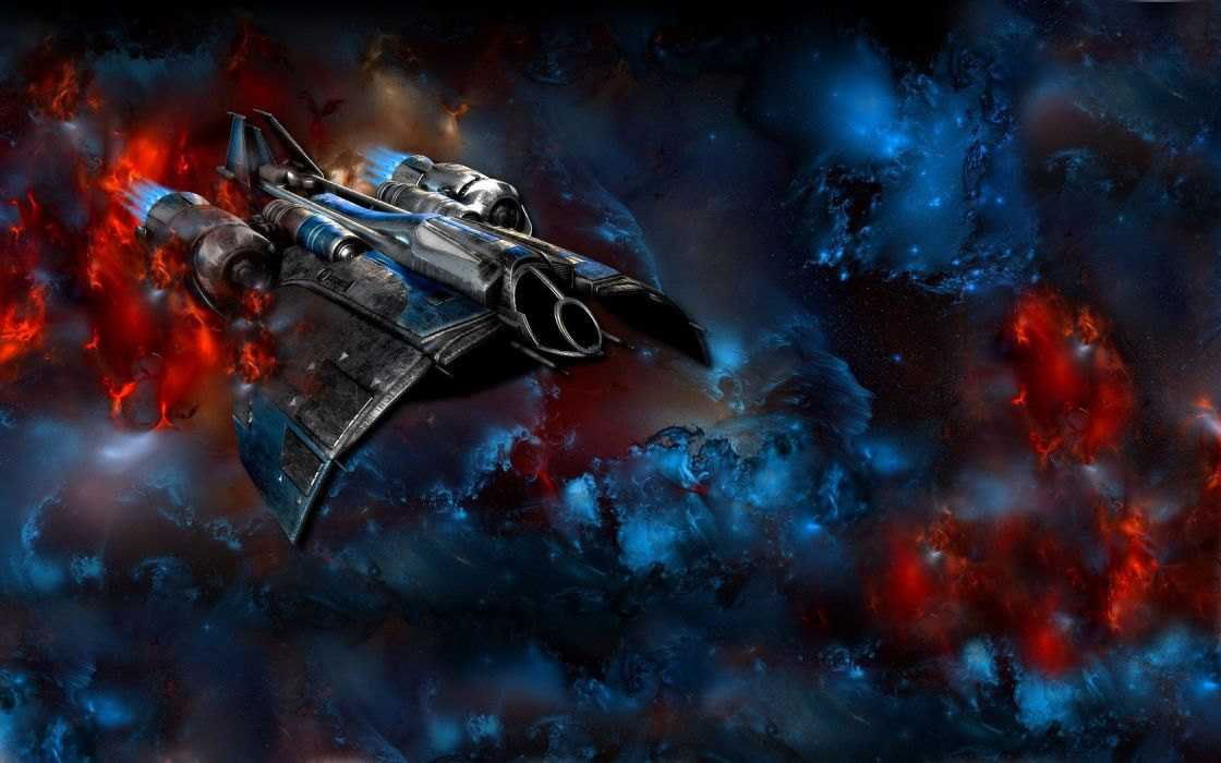 outer space StarCraft fire Terran spaceships vehicles damage wallpaper