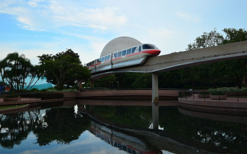 cityscapes architecture trains urban epcot monorail reflections wallpaper