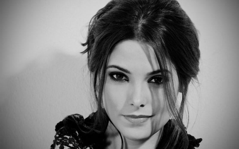 women eyes models Ashley Greene monochrome faces wallpaper