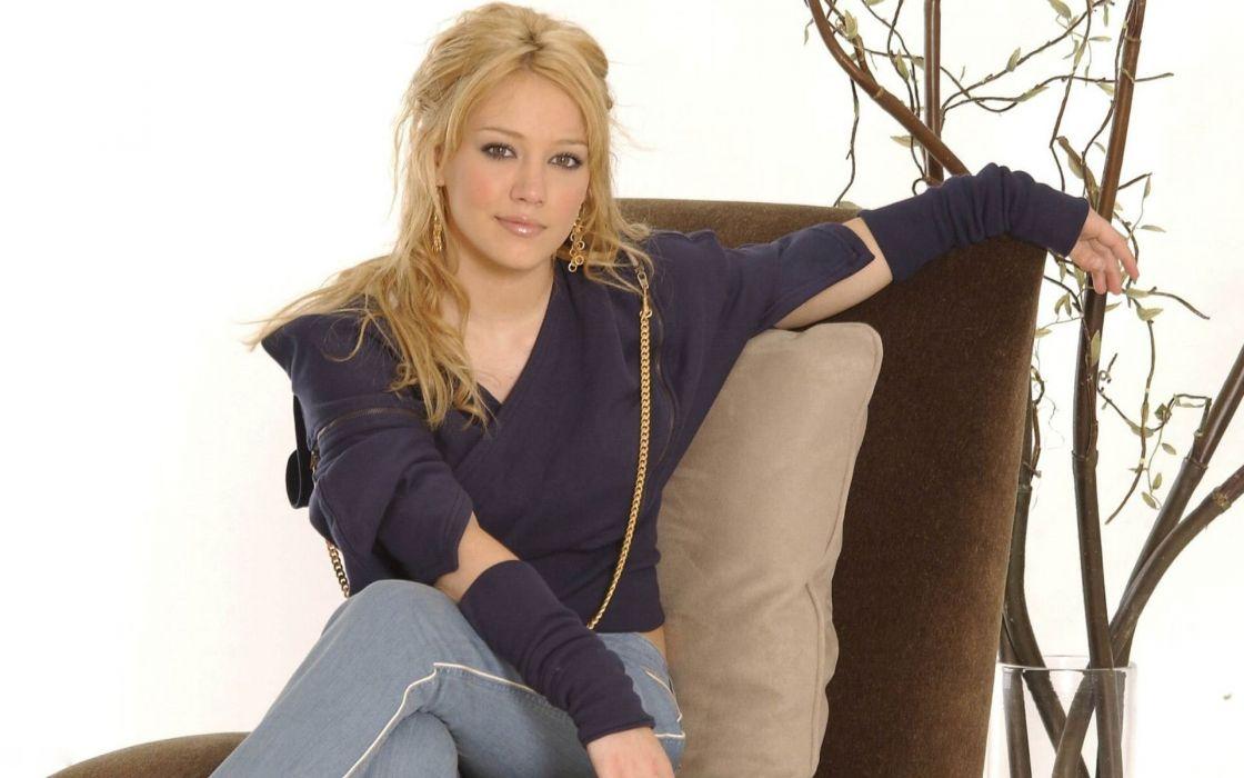blondes women Hilary Duff wallpaper