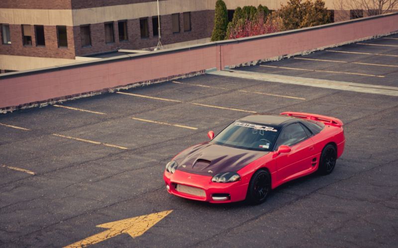 red cars parking Mitsubishi 3000GT wallpaper