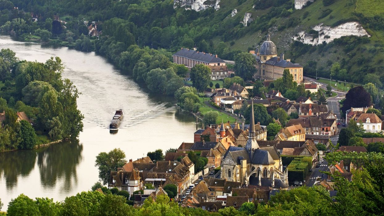 Normandy France Seine valley Les Andelys wallpaper