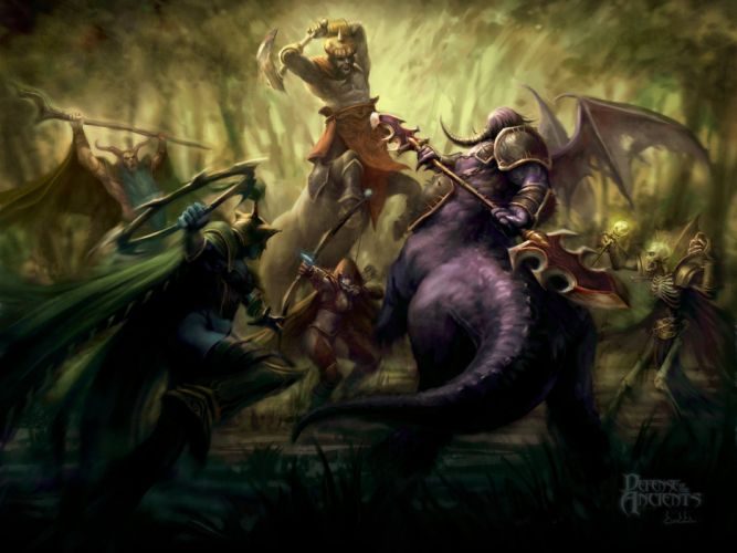 video games fantasy art DotA wallpaper