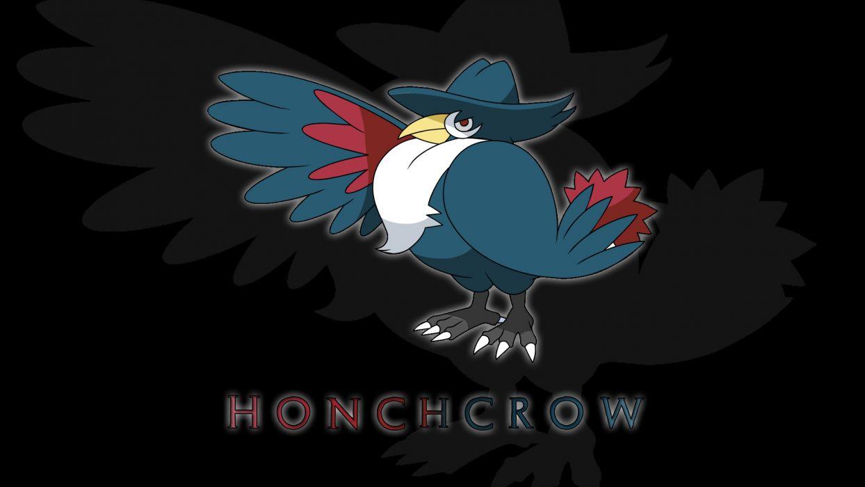 Pokemon black background Honchrow wallpaper