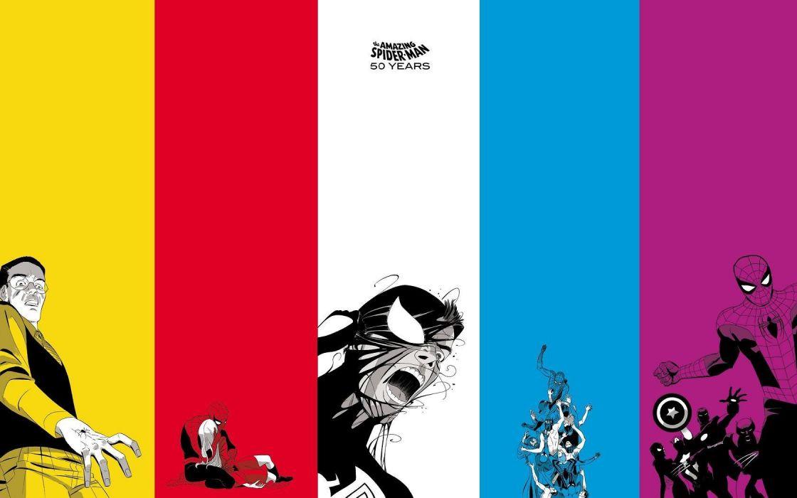 Spider-Man colors wallpaper