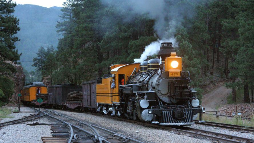trains locomotives steam locomotives widescreen narrow gauge 2-8-2 wallpaper