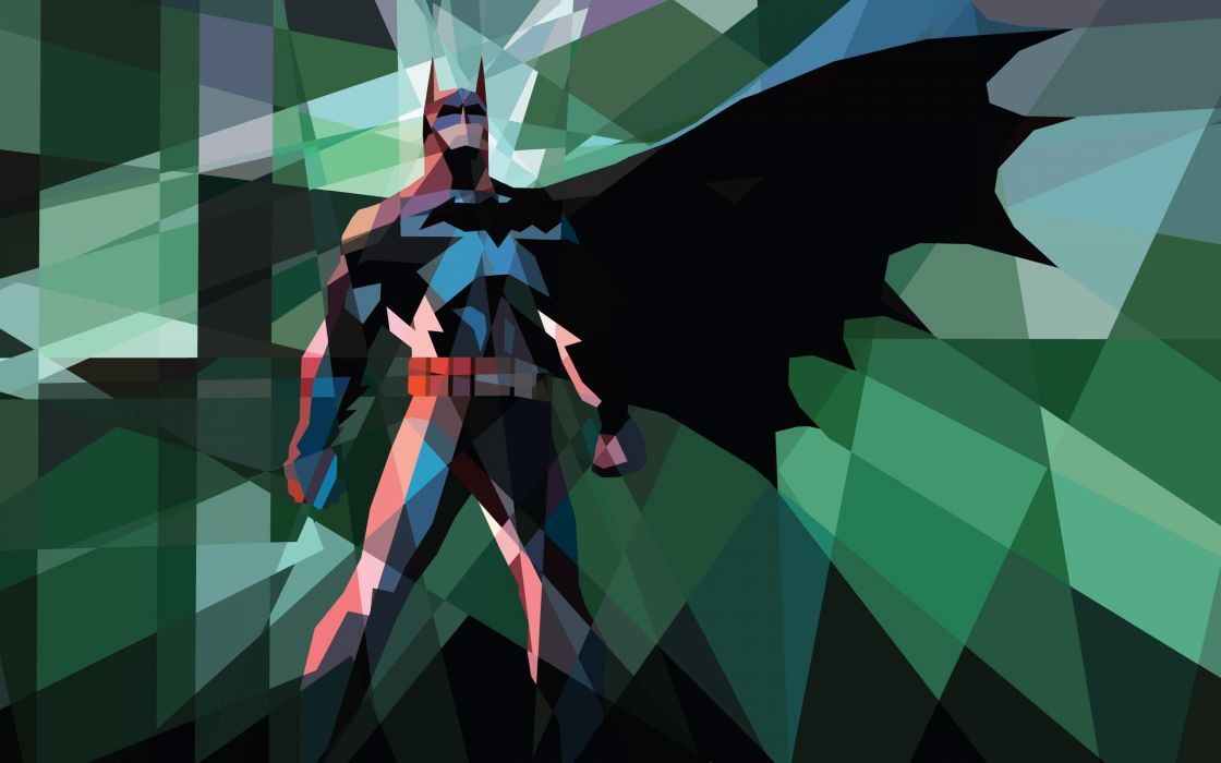 Batman comics superheroes iPad low poly wallpaper