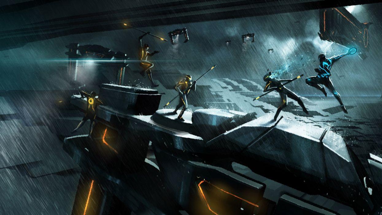 video games Tron Tron Legacy Tron: Evolution wallpaper