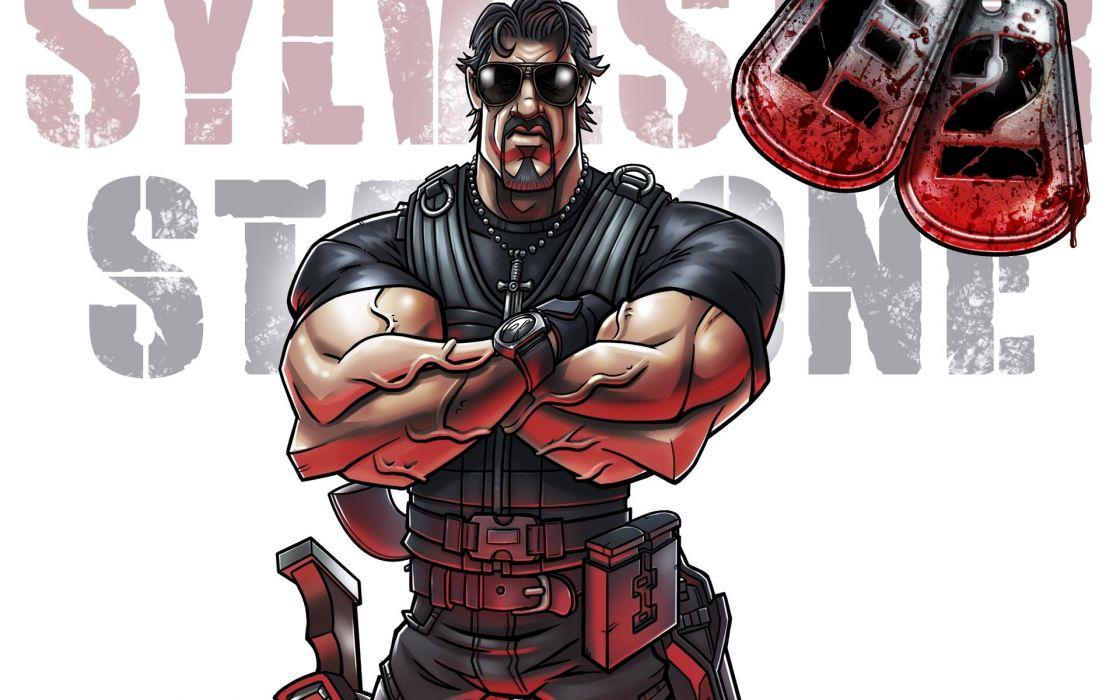 cartoons movies celebrity Sylvester Stallone wallpaper