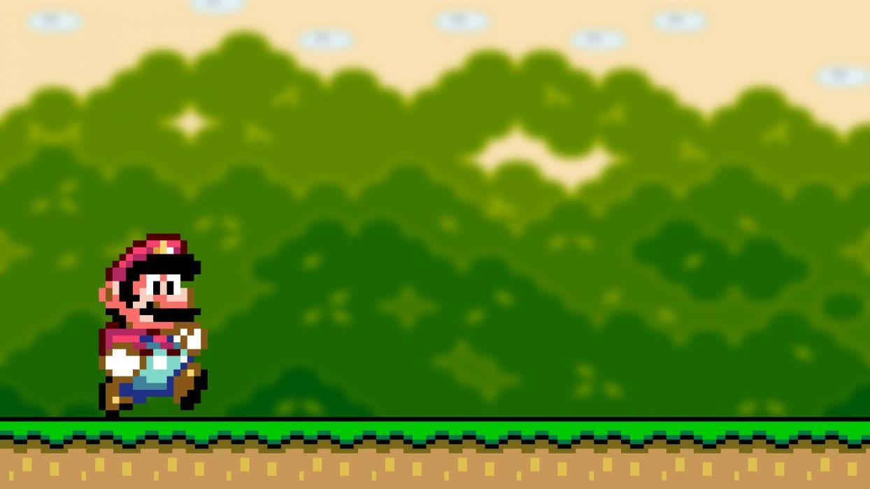 video games Mario Bros Super Mario World retro games wallpaper