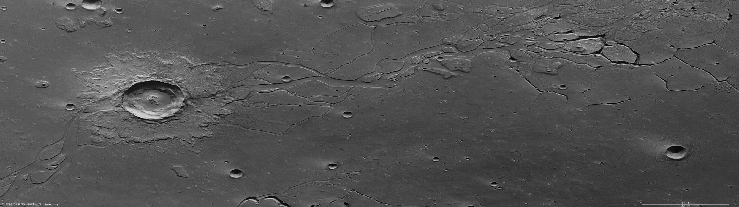Moon dual screen crater wallpaper