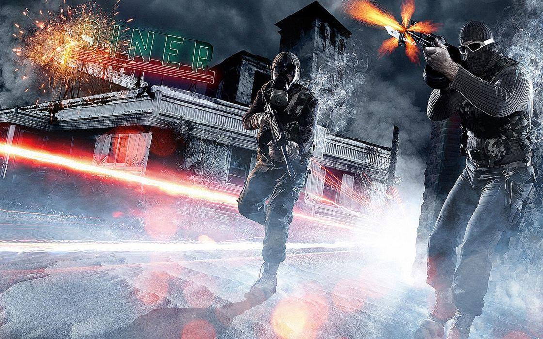 video games artwork Battlefield 3 shooting fan art man with guns games art wallpaper