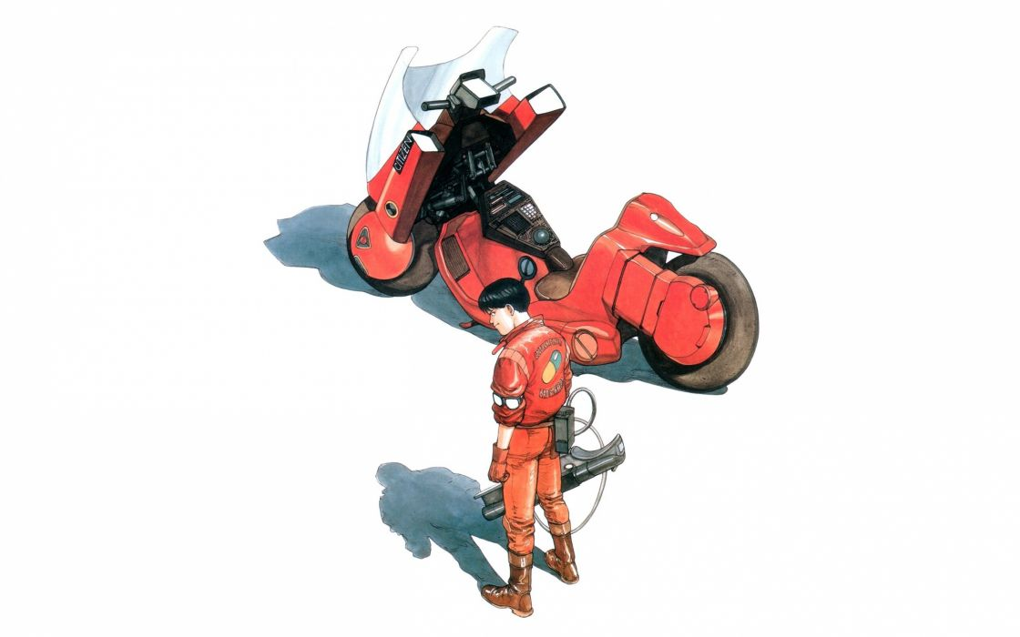 Akira artwork motorbikes wallpaper