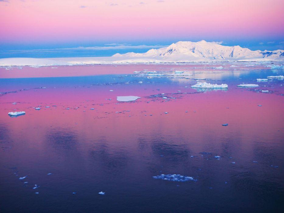 Antarctica Pastel Channel Sky Wallpaper