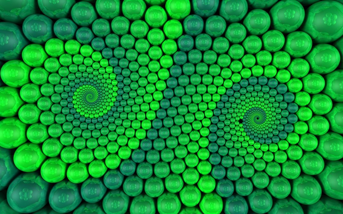 green abstract patterns wallpaper