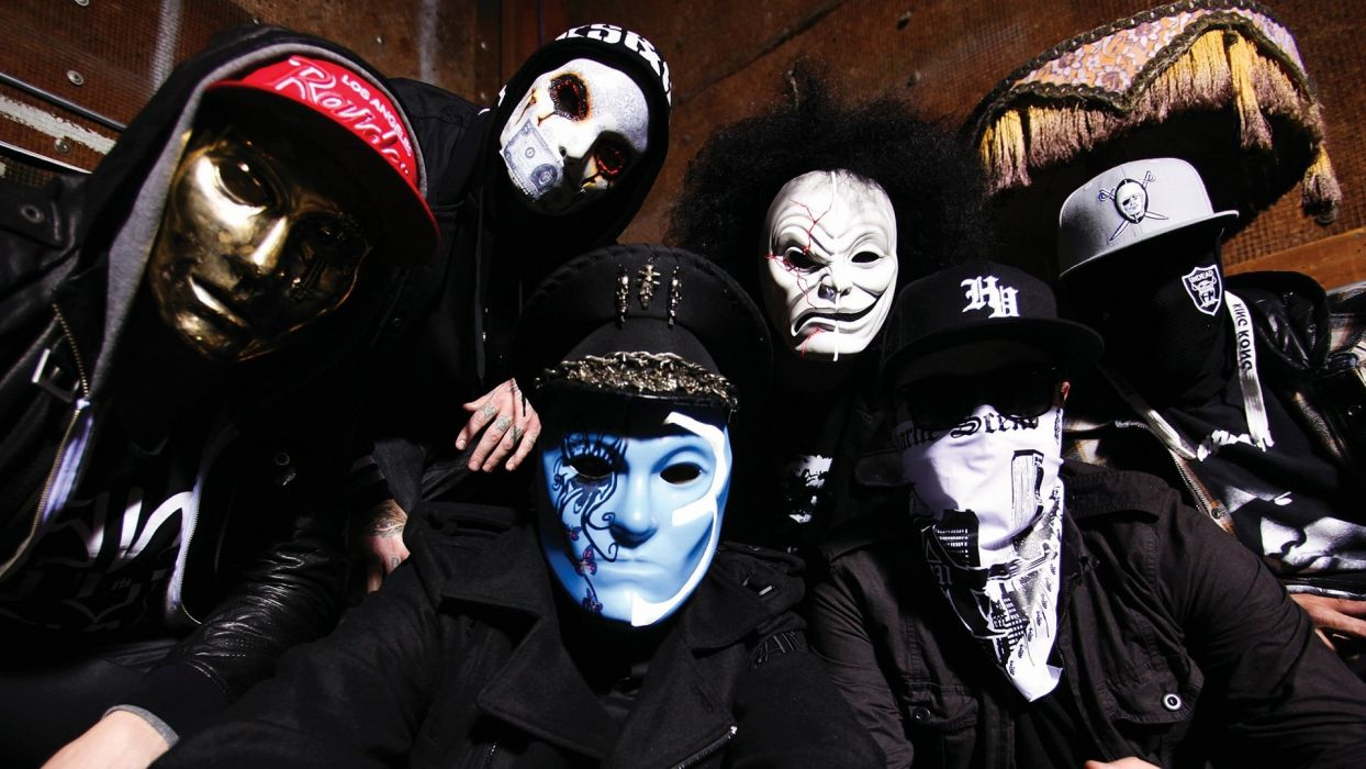light music rocks cap gold masks Hollywood Undead hats Charlie Scene fusion sailor Johnny 3 Tears Danny Da Kurlzz J-Dog Funny Man wallpaper
