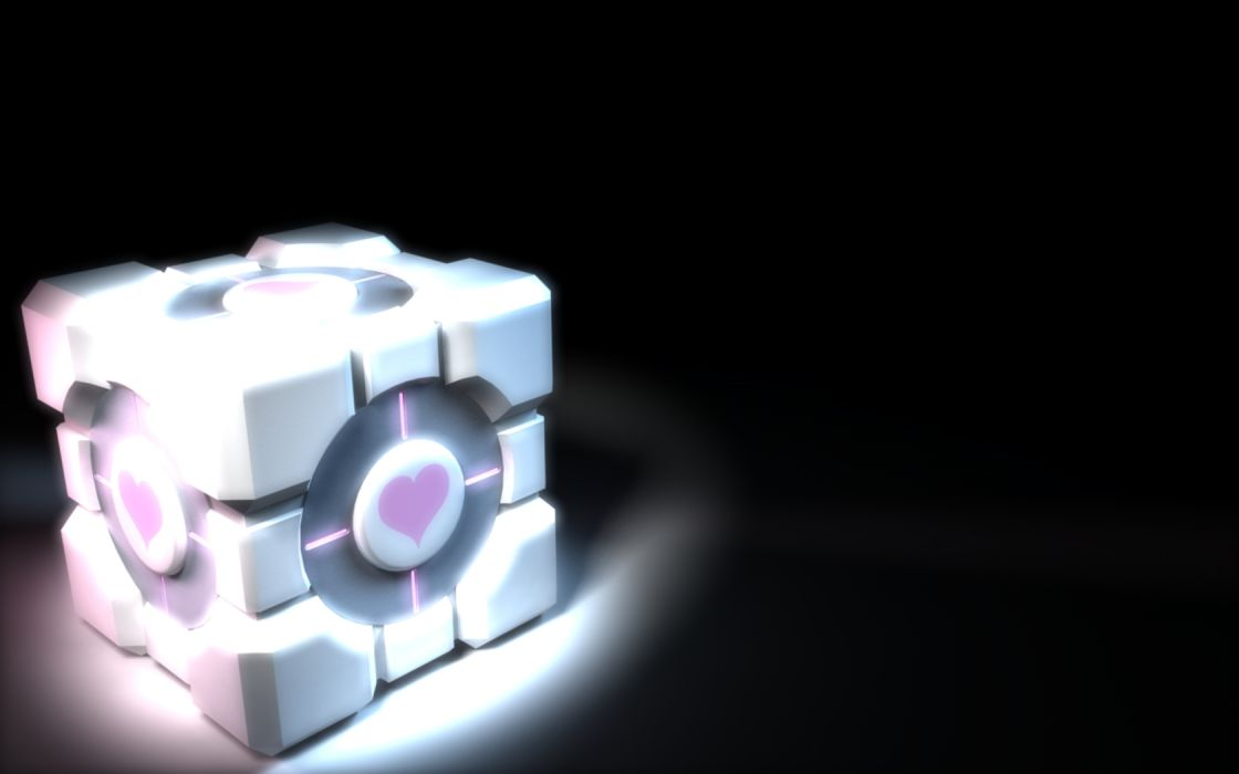 Portal Companion Cube Portal 2 wallpaper