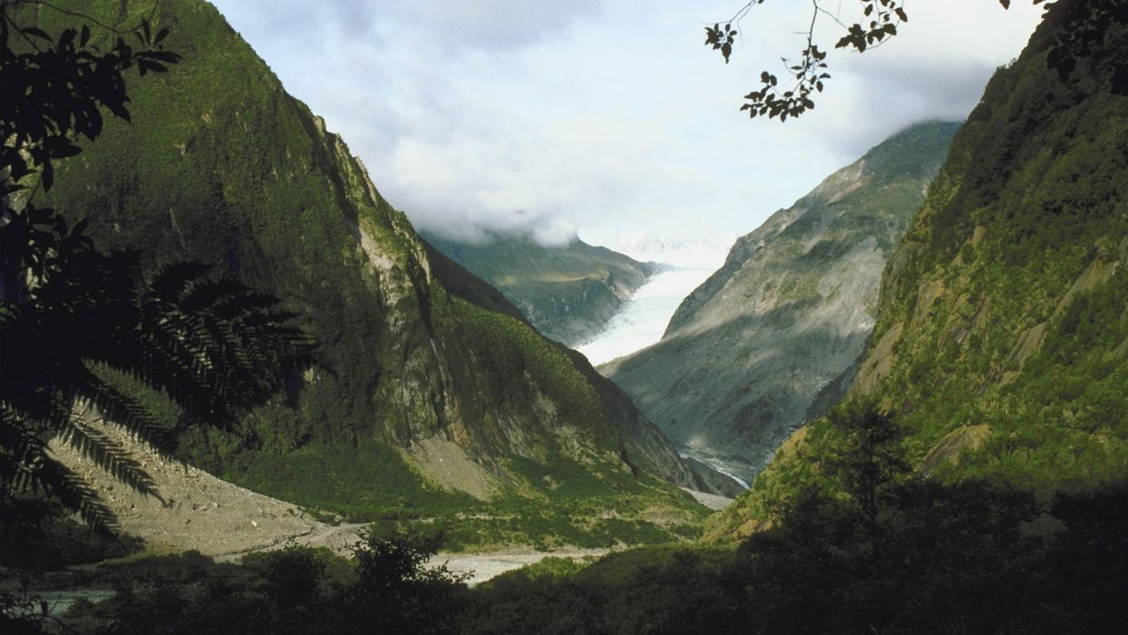 mountains glacier New Zealand wallpaper