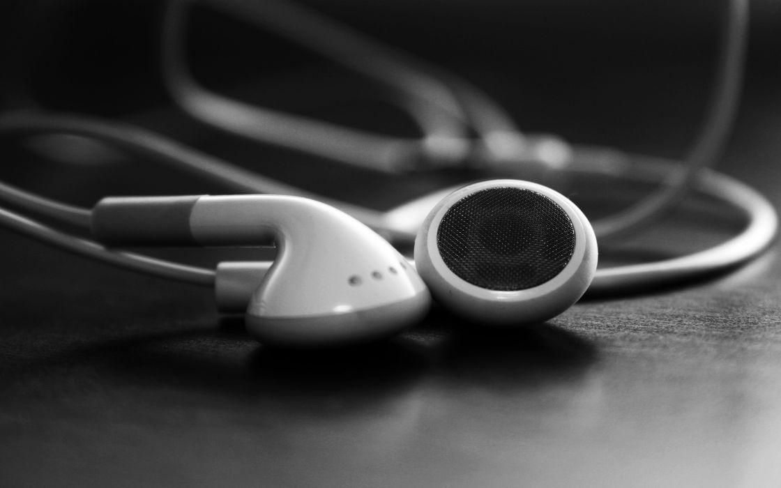 music iPod earphones wallpaper