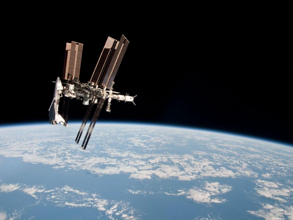 outer space Earth Space Shuttle space station wallpaper