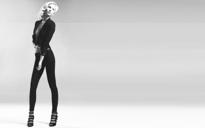 blondes legs women models Norwegian fashion leggings pantyhose high heels Berit Birkeland Norwegian girls wallpaper