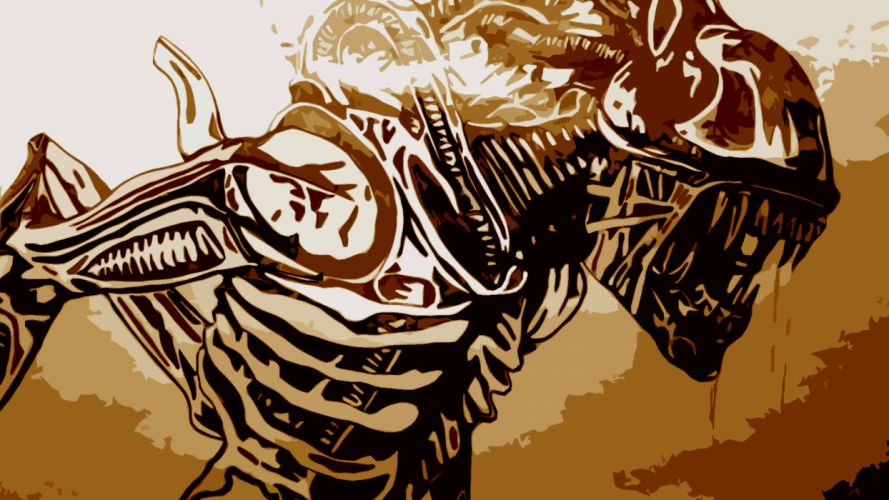 abstract Alien wallpaper