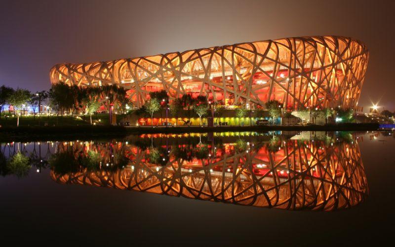 cityscapes South Africa stadium Birds Nest Stadium wallpaper