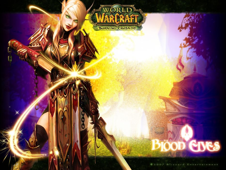 World of Warcraft Blood Elf paladin games World of Warcraft: The Burning Crusade wallpaper