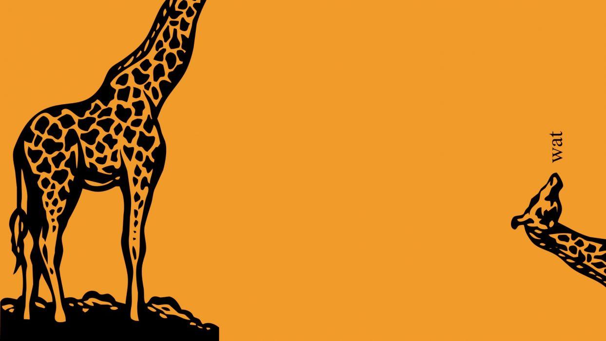 minimalistic giraffes wallpaper