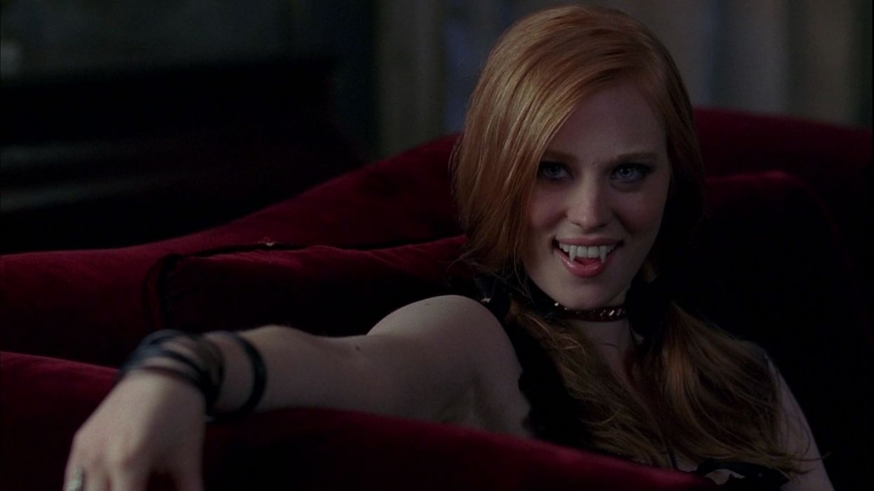 women redheads True Blood vampires Deborah Ann Woll wallpaper