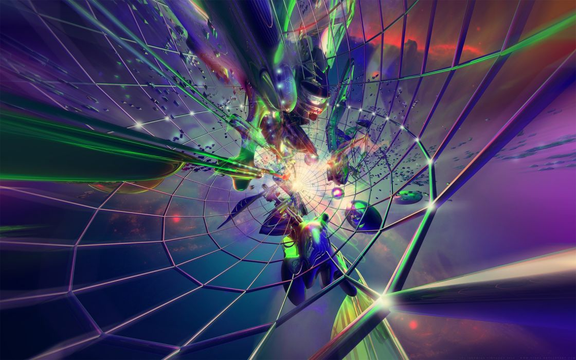 3D view abstract wallpaper