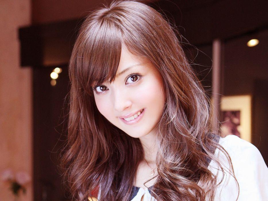 women Asians Nozomi Sasaki bangs wallpaper