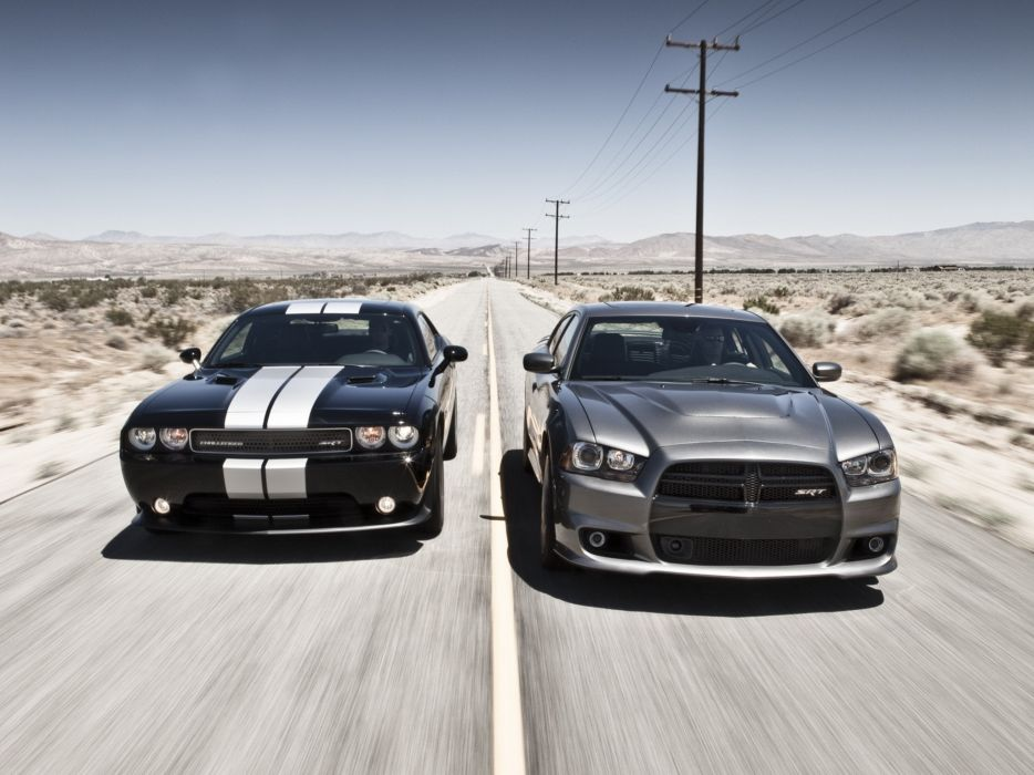 cars muscle cars Dodge Challenger Dodge Charger Dodge Challenger SRT8 wallpaper