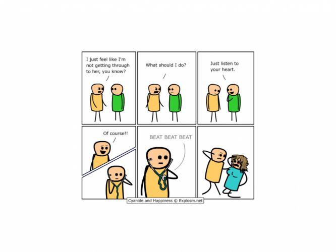 comics Cyanide and Happiness webcomic wallpaper