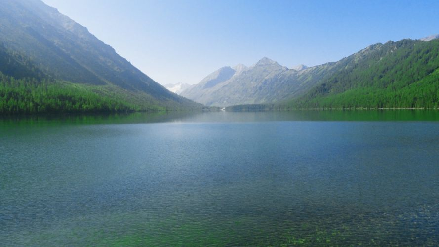 mountains nature lakes rivers wallpaper