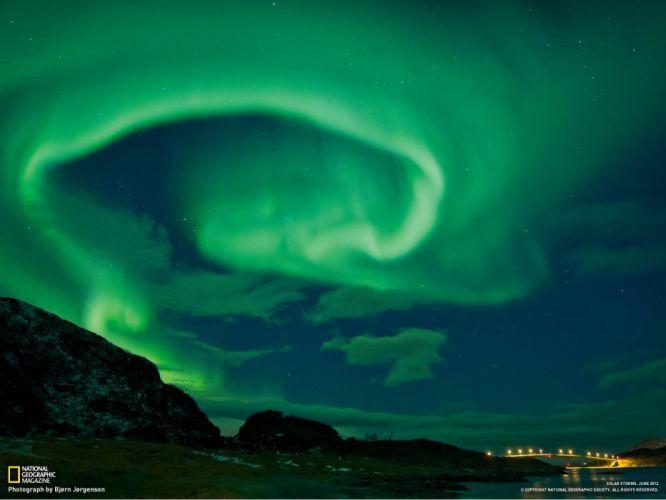 nature night aurora borealis Norway National Geographic wallpaper