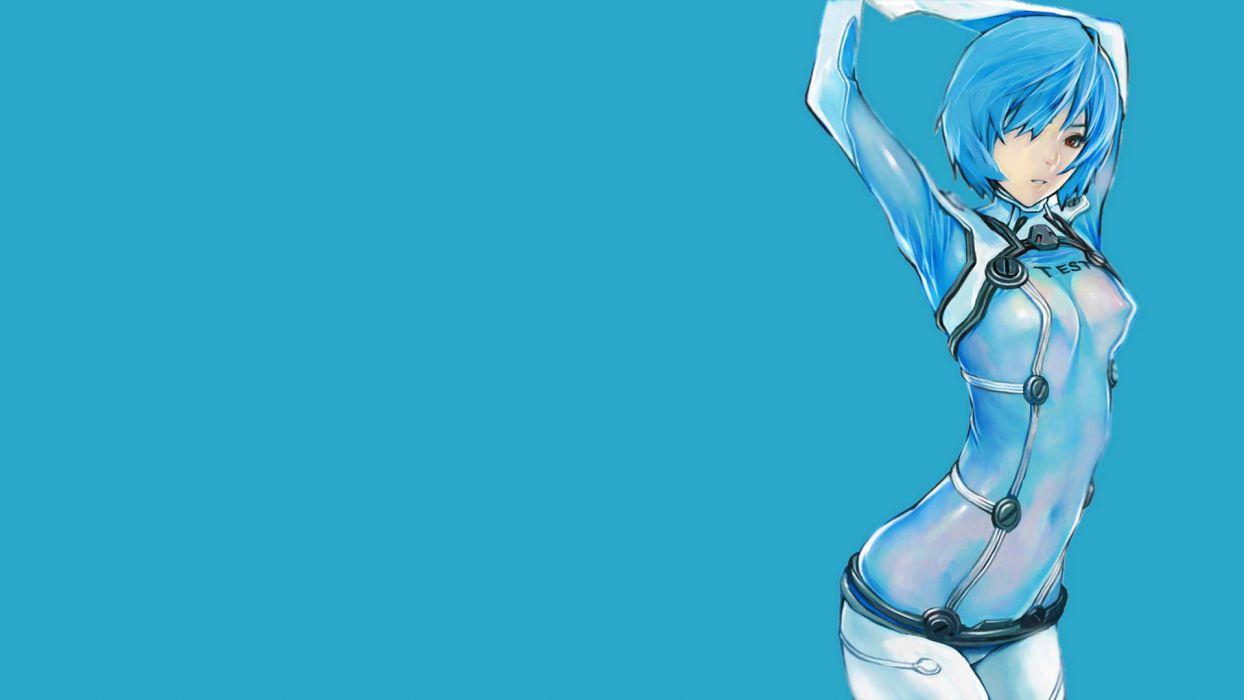 Ayanami Rei Neon Genesis Evangelion simple background wallpaper