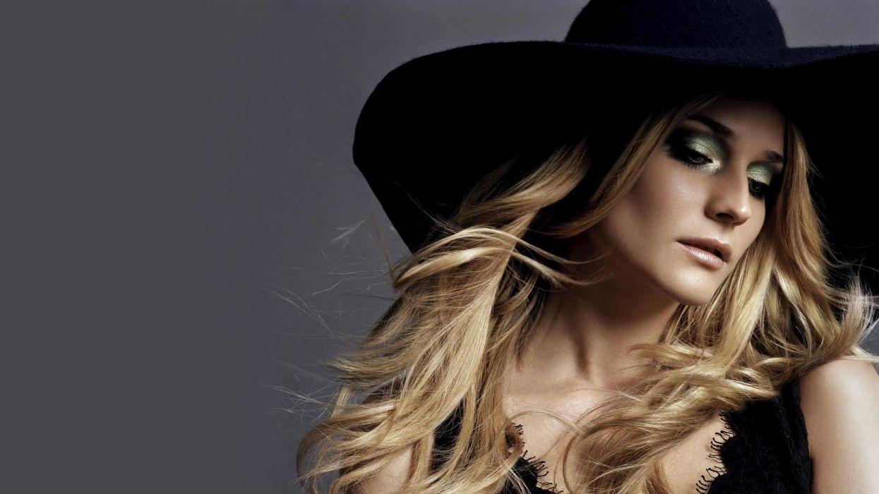 blondes women actress Diane Kruger hats wallpaper
