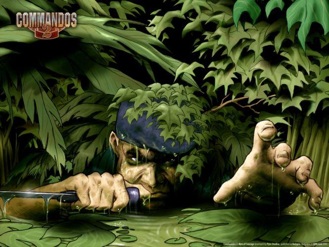 video games retro swamp retro games Commandos game wallpaper