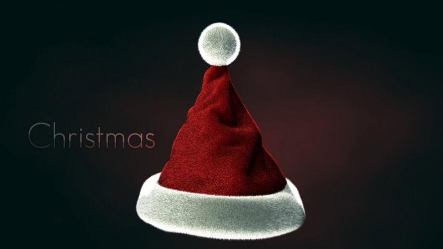 text Christmas Santa Claus Santa Claus hat wallpaper